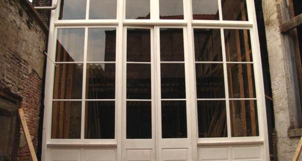 glaspui gerealiseerd onder monumenten toezicht